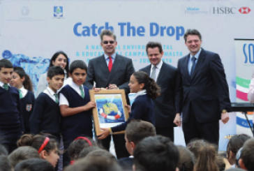 """Greening the Islands Awards candidate: HSBC Bank Malta reaches all the island's schoolchildren in """"Catch the Drop"""" campaign"""
